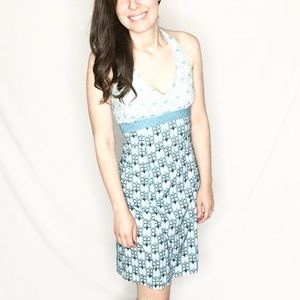 Athleta | Blue/Orange/White Floral Dri-Fit Dress